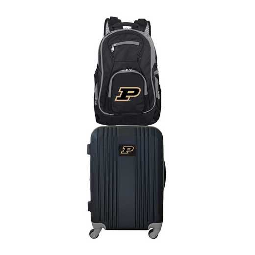 CLPUL108: NCAA Purdue Boilermakers 2 PC ST Luggage / Backpack