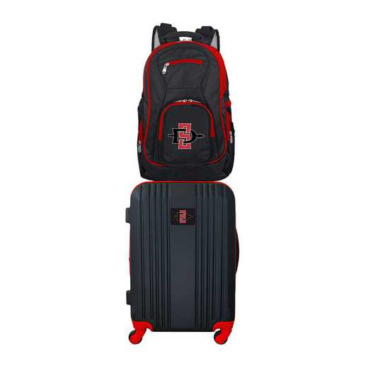 CLSGL108: NCAA San Diego State Aztecs 2 PC ST Luggage / Backpack