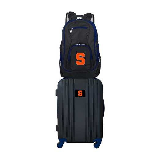 CLSYL108: NCAA Syracuse Orange 2 PC ST Luggage / Backpack