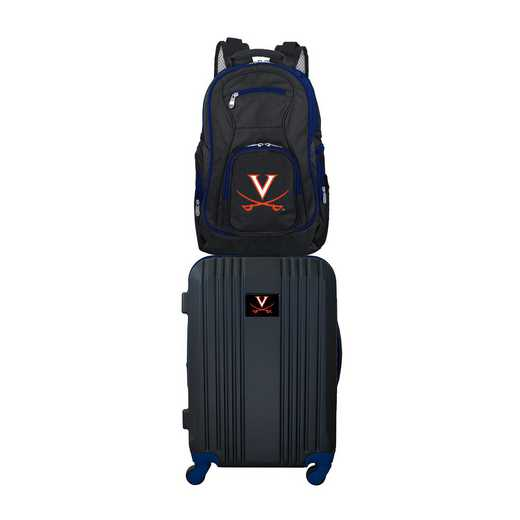 CLVIL108: NCAA Virginia Cavaliers 2 PC ST Luggage / Backpack