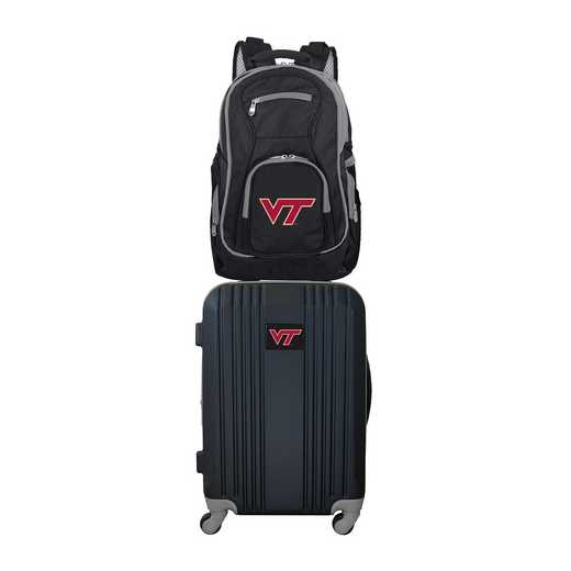 CLVTL108: NCAA Virginia Tech Hokies 2 PC ST Luggage / Backpack