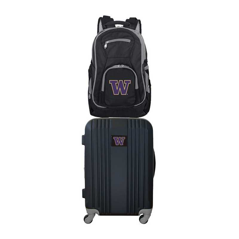 CLWAL108: NCAA Washington Huskies 2 PC ST Luggage / Backpack