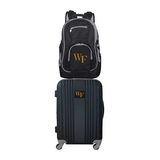 CLWFL108: NCAA Wake Forest Demon Deacons 2 PC ST Luggage / Backpack