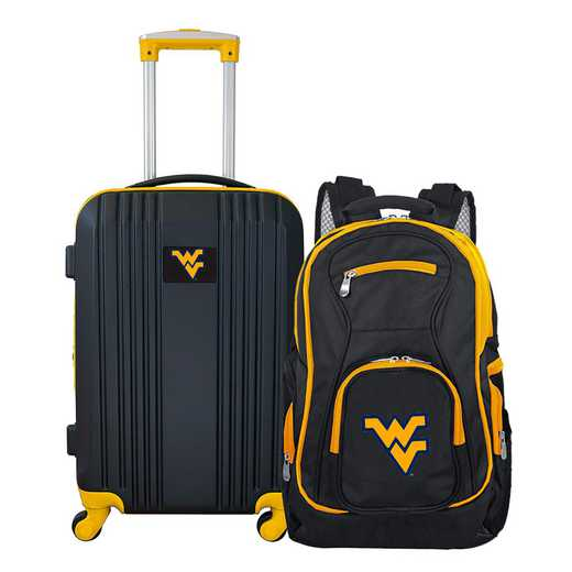 CLWVL108: NCAA West Virginia Mountaineers 2 PC ST Luggage / Backpack