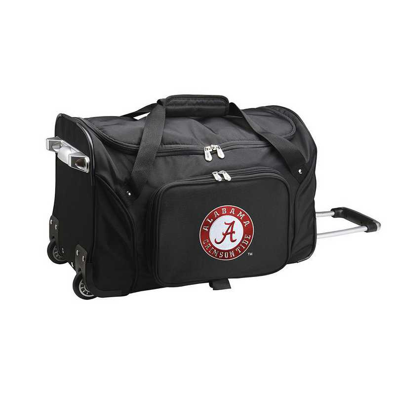 CLALL401: NCAA Alabama Crimson Tide 22IN WHLD Duffel Nylon Bag