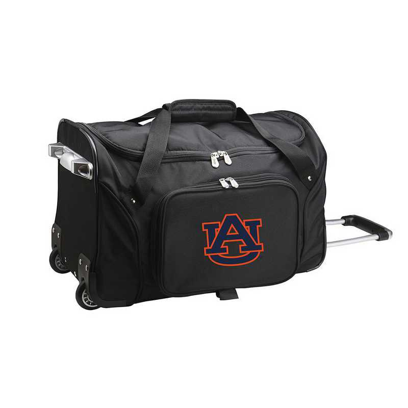 CLAUL401: NCAA Auburn Tigers 22IN WHLD Duffel Nylon Bag