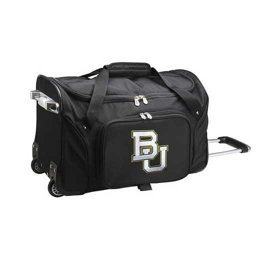 CLBAL401: NCAA Baylor Bears 22IN WHLD Duffel Nylon Bag
