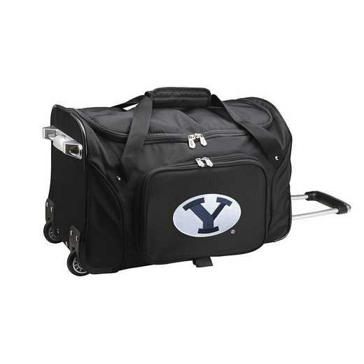CLBYL401: NCAA Brigham Young Cougars 22IN WHLD Duffel Nylon Bag