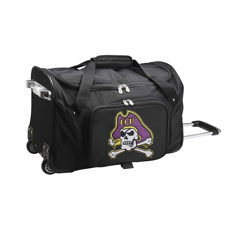 CLECL401: NCAA East Carolina Pirates 22IN WHLD Duffel Nylon Bag