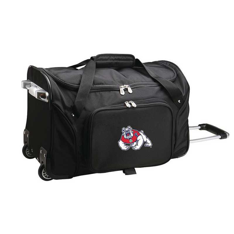 CLFRL401: NCAA Fresno State Bulldogs 22IN WHLD Duffel Nylon Bag