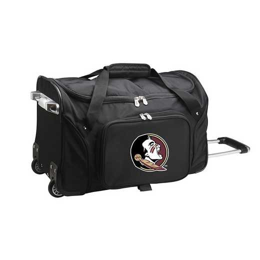 CLFSL401: NCAA Florida State Seminoles 22IN WHLD Duffel Nylon Bag