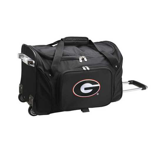 CLGAL401: NCAA Georgia Bulldogs 22IN WHLD Duffel Nylon Bag