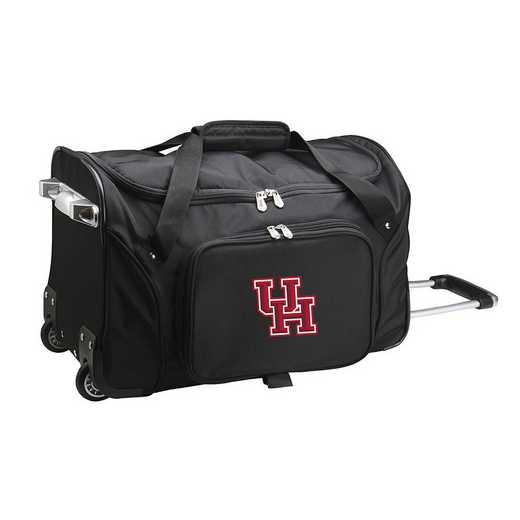CLHUL401: NCAA Houston Cougars 22IN WHLD Duffel Nylon Bag