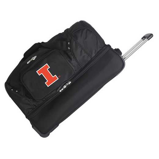 CLILL300: NCAA Illinois Fighting Illini 27IN WHLD Duffel Nylon bag