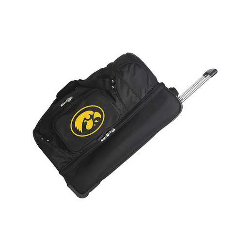 CLIWL300: NCAA Iowa Hawkeyes 27IN WHLD Duffel Nylon bag