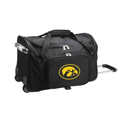 CLIWL401: NCAA Iowa Hawkeyes 22IN WHLD Duffel Nylon Bag