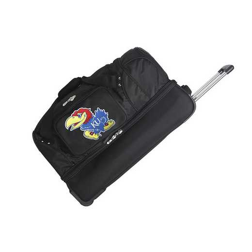 CLKUL300: NCAA Kansas Jayhawks 27IN WHLD Duffel Nylon bag