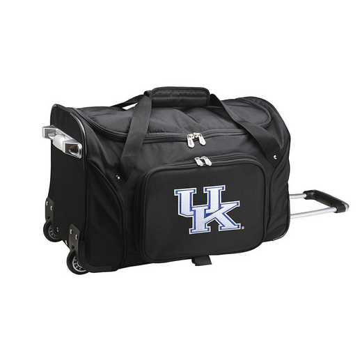 CLKYL401: NCAA Kentucky Wildcats 22IN WHLD Duffel Nylon Bag