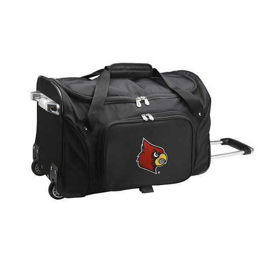 CLLOL401: NCAA Louisville Cardinals 22IN WHLD Duffel Nylon Bag
