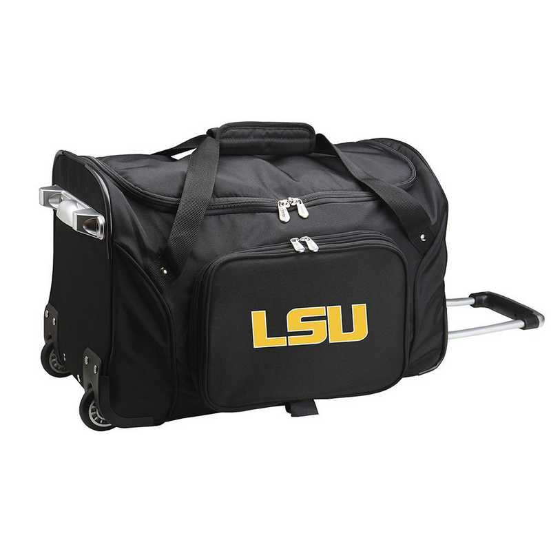 CLLSL401: NCAA Louisiana Tigers 22IN WHLD Duffel Nylon Bag