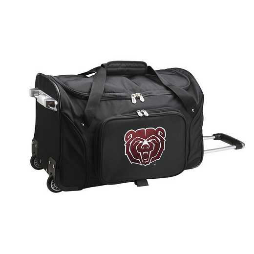 CLMBL401: NCAA Missouri State UNIV Bears 22IN WHLD Duffel Nylon Bag