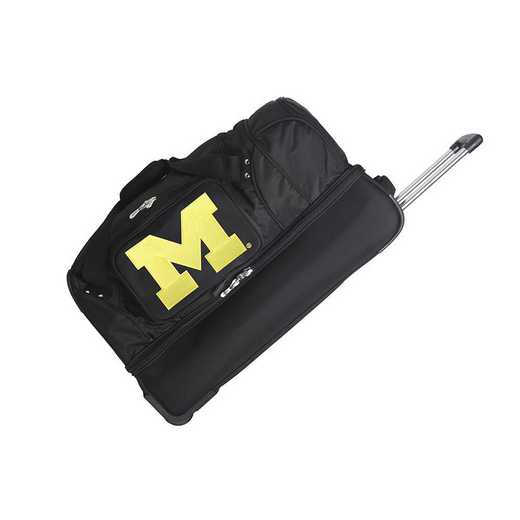 CLMCL300: NCAA Michigan Wolverines 27IN WHLD Duffel Nylon bag