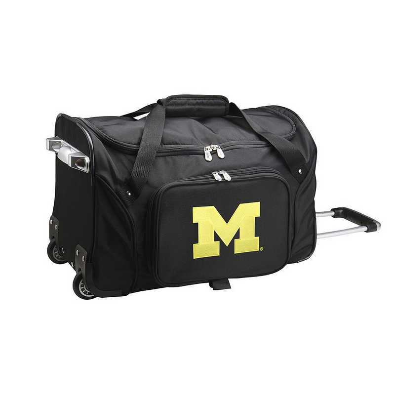 CLMCL401: NCAA Michigan Wolverines 22IN WHLD Duffel Nylon Bag