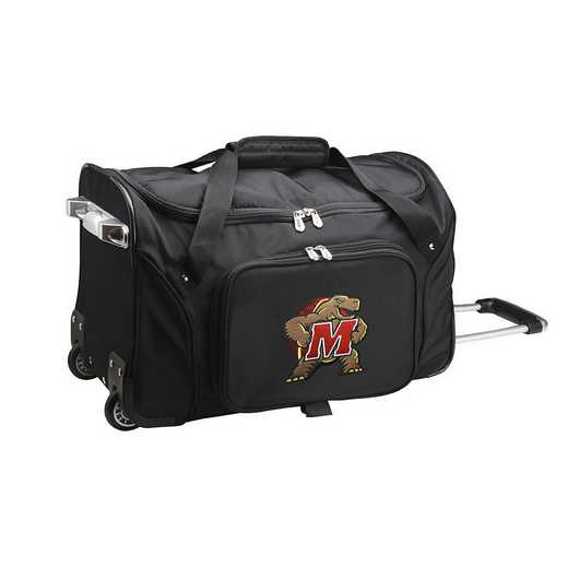 CLMDL401: NCAA Maryland Terrapins 22IN WHLD Duffel Nylon Bag