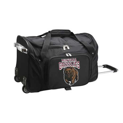 CLMGL401: NCAA Montana Grizzlies 22IN WHLD Duffel Nylon Bag