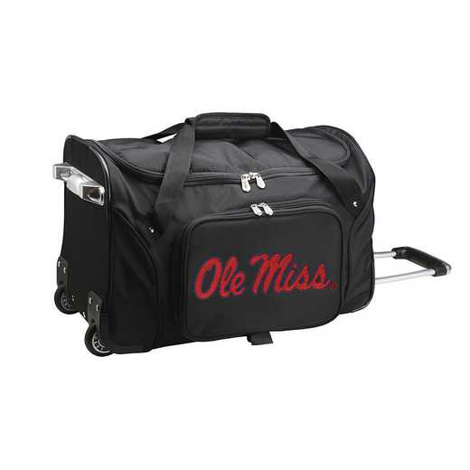 CLMIL401: NCAA Mississippi Ole Miss 22IN WHLD Duffel Nylon Bag