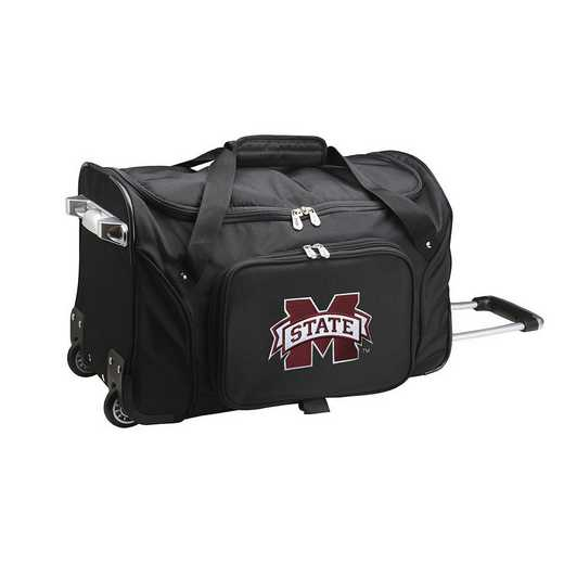 CLMPL401: NCAA Mississippi State Bulldogs 22IN WHLD Duffel Nylon Bag