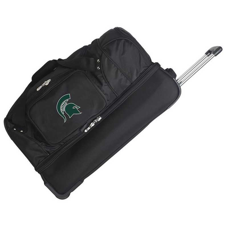 CLMSL300: NCAA Michigan State Spartans 27IN WHLD Duffel Nylon bag