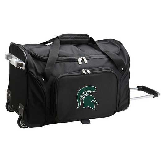 CLMSL401: NCAA Michigan State Spartans 22IN WHLD Duffel Nylon Bag