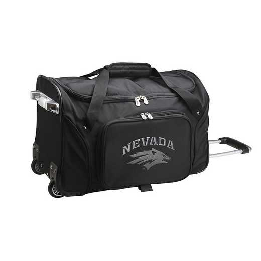 CLNAL401: NCAA Nevada Wolf Pack 22IN WHLD Duffel Nylon Bag