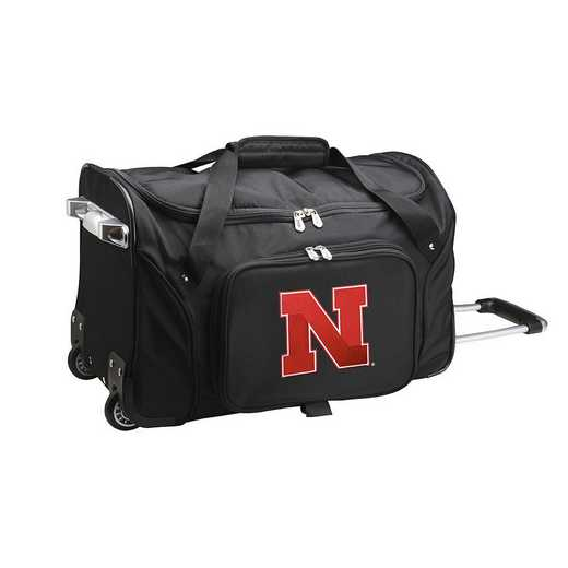 CLNBL401: NCAA Nebraska Cornhuskers 22IN WHLD Duffel Nylon Bag