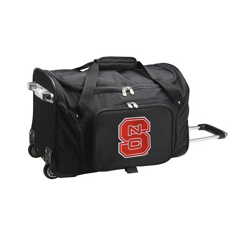 CLNSL401: NCAA NC State Wolfpack 22IN WHLD Duffel Nylon Bag