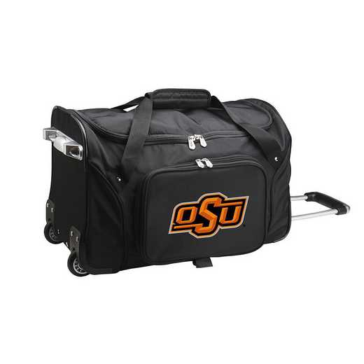 CLOKL401: NCAA Oklahoma State Cowboys 22IN WHLD Duffel Nylon Bag