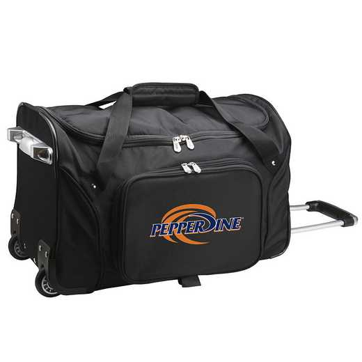 CLPPL401: NCAA Pepperdine UNIV Waves 22IN WHLD Duffel Nylon Bag