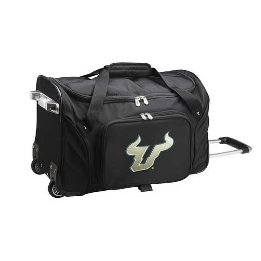 CLSFL401: NCAA South Florida Bulls 22IN WHLD Duffel Nylon Bag
