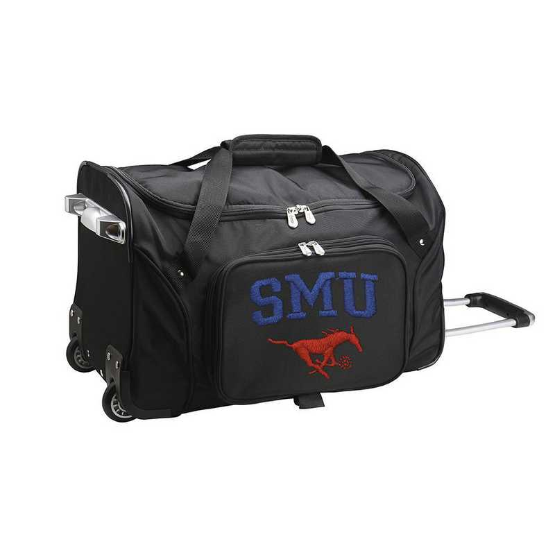 CLSML401: NCAA Southern Methodist Mustangs 22IN WHLD Duffel Nylon Bag