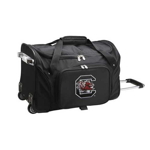 CLSOL401: NCAA South Carolina Gamecocks 22IN WHLD Duffel Nylon Bag