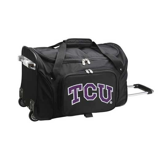 CLTCL401: NCAA TCU Horned Frogs 22IN WHLD Duffel Nylon Bag
