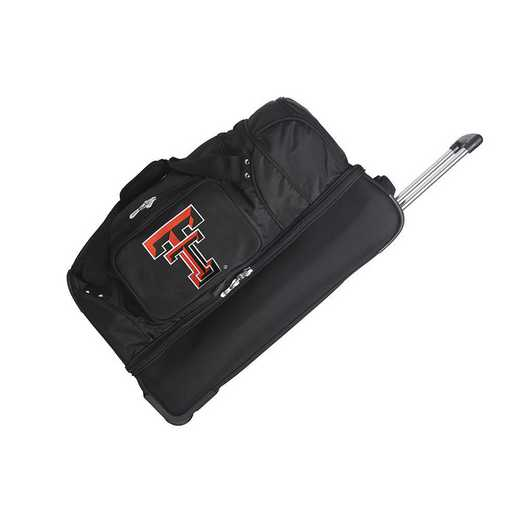 CLTTL300: NCAA Texas Tech Red Raiders 27IN WHLD Duffel Nylon bag