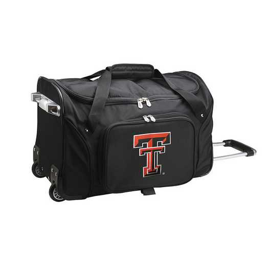 CLTTL401: NCAA Texas Tech Red Raiders 22IN WHLD Duffel Nylon Bag