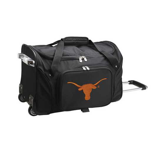 CLTXL401: NCAA Texas Longhorns 22IN WHLD Duffel Nylon Bag