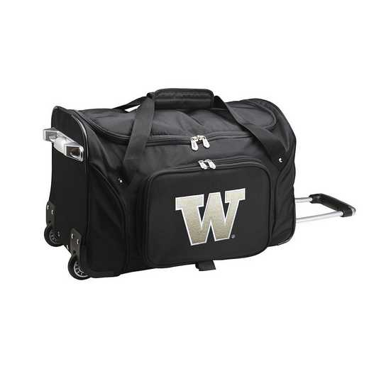 CLWAL401: NCAA Washington Huskies 22IN WHLD Duffel Nylon Bag