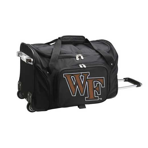 CLWFL401: NCAA Wake Forest Demon Deacons 22IN WHLD Duffel Nylon Bag