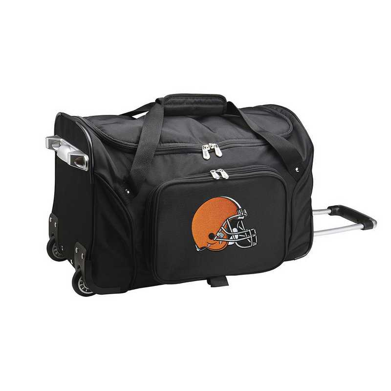 NFCLL401: NFL Cleveland Browns 22IN WHLD Duffel Nylon Bag