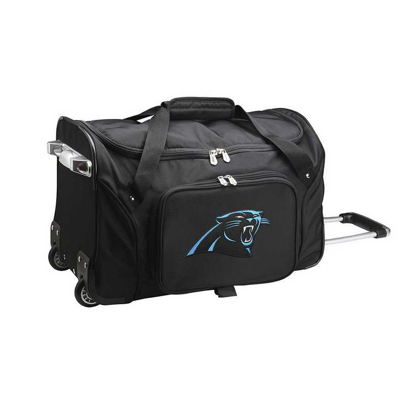 NFCPL401: NFL Carolina Panthers 22IN WHLD Duffel Nylon Bag