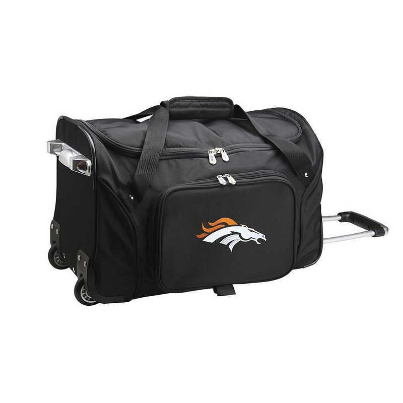 NFDBL401: NFL Denver Broncos 22IN WHLD Duffel Nylon Bag